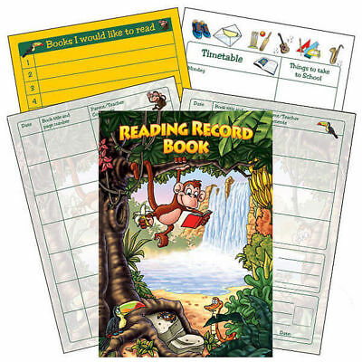 Jungle Reading Record Book Primary Teaching Comprehension Childrens Pupils A5