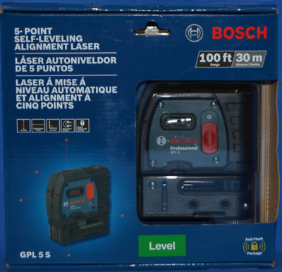 Bosch Gpl 5 S 5 Point Self Leveling Alignment Laser 100 Ft/30 M