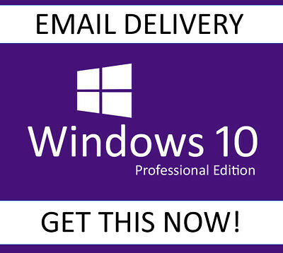 Windows 10 PRO 32/64bit Genuine Key Product Code