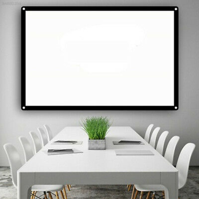 B7DB Portable Indoor School Office Bar HD Projection Screen Projector Curtain