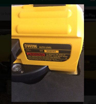 Dewalt DW096 26x Heavy Duty Auto Level With case and FREE SHIPPING!