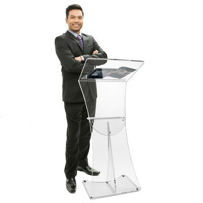 Floorstanding lectern contemporary acrylic church presentation pulpit book stand