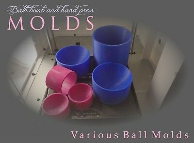 UK 3D Printed Bath Bomb Mold -  Various sizes round  hand press moulds