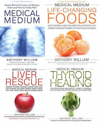 Anthony Willian - Medical Medium - Liver Rescue - Thyroid - Foods - 4(E Books)