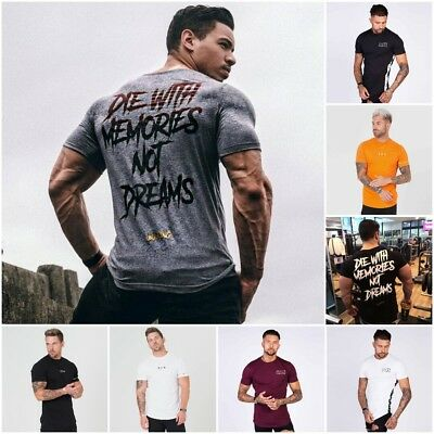 0e4f8a2a634 Cotton Crossfit Quick Dry Men T Shirt Short Sleeve Fitness Gym Training  Shirt