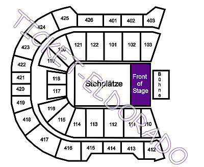 BACKSTREET BOYS Berlin Golden Circle Tickets Karten 29.05.2019 Arena Stehplatz