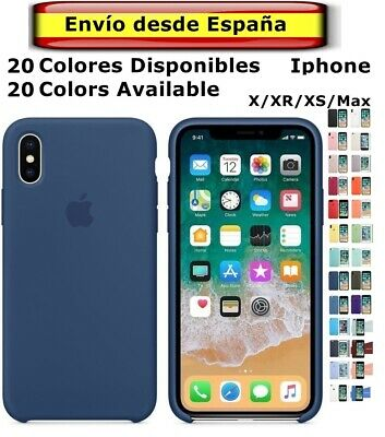 FUNDA Original Carcasa con LOGO SILICONA suave Genuina Apple IPHONE  X XR XS Max