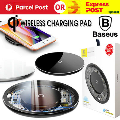 Wireless Charger Qi Fast Charging Baseus iPhone X 8 XS XR Samsung Note 9 S9 10W