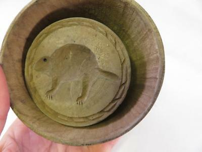 Rare Canadian Beaver Primitive Large Chip Carved Butter Mold