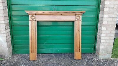 Ornate Victorian Style Wooden Surround With Mantlepiece