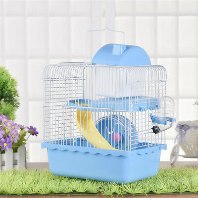 Pet Supplies Hamster Cage 2 Layers Mouse House Mice Rat Castle Habitat Bottle