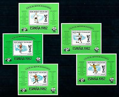 [93155] Togo 1981 World Cup Football Soccer Spain 5 Sheets MNH
