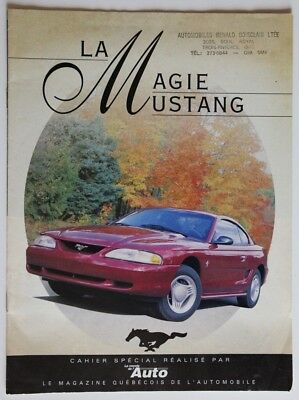 FORD MUSTANG 1994 dealer brochure catalog - French - Canada Monde de l'Auto