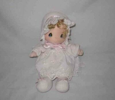 "So Cute Vintage 1985 12"" Musical PRECIOUS MOMENTS Cloth Doll Samuel Butcher"