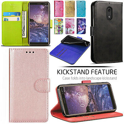 Nokia 2.1 / 3.1 / 7.1 PU Leather Wallet Stand Card Slot Magnetic Flip Case Cover
