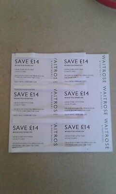 WAITROSE VOUCHERS / COUPONS WORTH £84 + 6 x £14 off £70 SPEND INSTORE