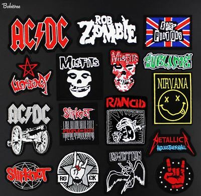 Band Fan Music Logo Badge Metal Punk Rock Embroidered Iron On Applique Patch New