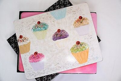 """""""Cinnamon"""" Gorgeous Set of Cupcake Placemats. Great Condition. Bargain Price!"""