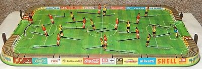 50s 60s VINTAGE TIN LITHO FOOTBALL GAME 40+ STADIUM AD LOGOS WESTERN GERMANY