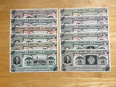 12X J.A Moisan Quebec Notes Look at Pictures