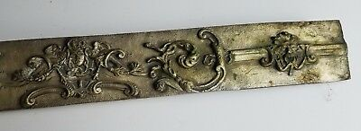 Antique Brass pediment nickle plated face lions ornate