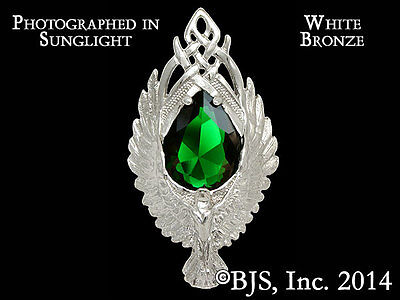 Elessar The Elfstone, Aragorn's Brooch, Lord of the Rings Jewelry, White Bronze