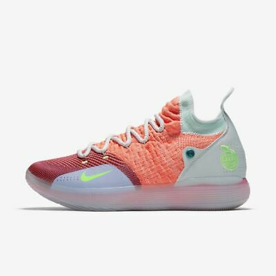 buy popular 93f7e 67c6a Nike Zoom KD 11 EYBL Peach Jam Pink Hot Punch Kevin Durant Men Shoes AO2605-