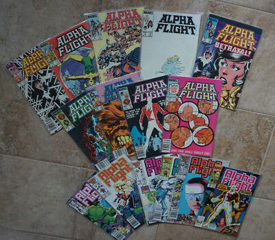 Alpha Flight Marvel Comics Lot  - 16 books total (1983)