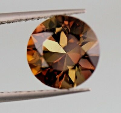 Outstandinng !IF,2.00ct Round Cut  Top Color  Axinite Gemstone From Pakistan.