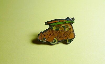 Pins Pin's Car Auto Citroën 2 Cv Rose Surf