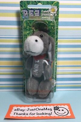 Donkey Pez Petz Barnyard Babies Soft Plush Keychain Dispenser NEW 2005