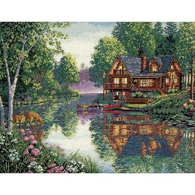 "DIMENSIONS GOLD COLLECTIONS ""CABIN FEVER""CROSS STITCH KIT  Kreuzstich-StickpacK"
