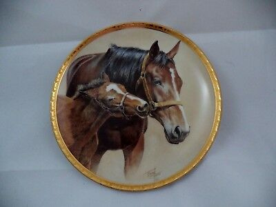 """Fred Stone Horse Plate """"Patience"""" Limited Edition American Artists w/ Box 1991"""