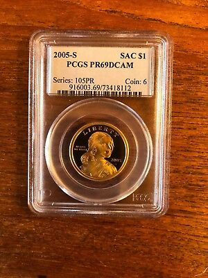 2005 S Proof Sacagawea Native American Dollar - PCGS PR 69 DCAM Deep Cameo