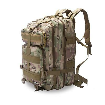 Tactical Backpack Military Rucksack Molle Army RFID Daypack 40L Camp Bag Travel