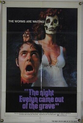 The Night Evelyn Came Out Of The Grave Ff Orig 1Sh Movie Poster Erica Blanc 1972