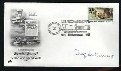 Douglas Canning Signed postal cover WWII part of the Yamamoto Mission