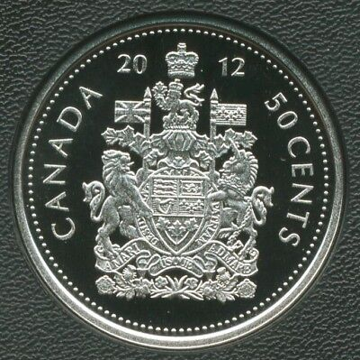 2012 CANADA 50 CENTS Nickel  COIN  PROOF HALF DOLLAR HEAVY CAMEO  from mint set
