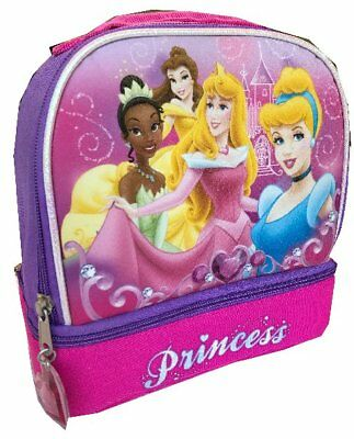 393a5df4d68a DISNEY PRINCESS LUNCHBOX Dual insulated lunch bag Disney heart Cinderella  Tiana