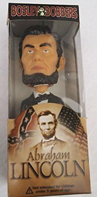 Abe Lincoln Bobble Head By Bosley Bobbers Brand New, Very Rare Mib!!!