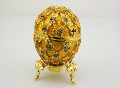 "Faberge Imperial Coronation Egg  2 3/4"" with stand"