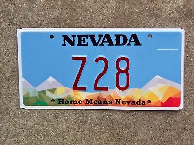 Nevada Vanity License Plate Z28 Chevy Camaro Z 28 Home Means Nevada Base Mint