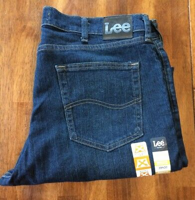Men's LEE BLUE JEANS Regular Fit Straight Leg Active Comfort Denim W 38 L 30 NWT