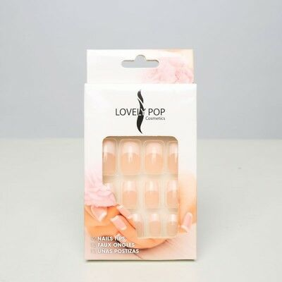 "Kit de 12 faux ongles de la marque "" LOVELY POP "" fourni sans colle "" N° 09 ""."