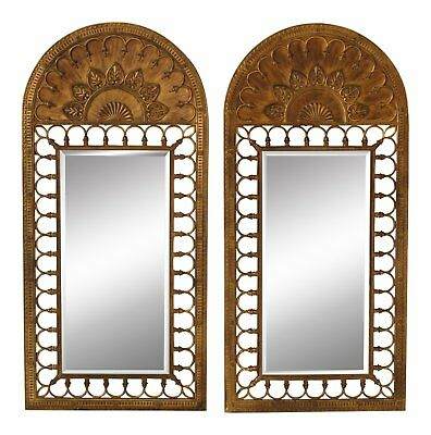 F46535EC/36EC: Pair LABARGE Arched Top Large Pier Mirrors