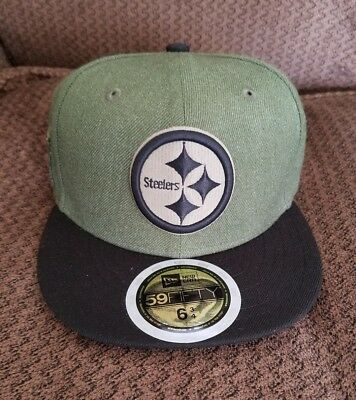 Pittsburgh Steelers New Era 2018 Salute to Service On Field Fitted Hat  Size6 3 4 8c2075c1f