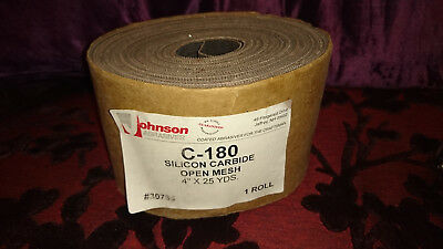 "C--180 Professional Abrasive Cloth Silicon Carbide Open Mesh 4"" X 25 Yards Roll"