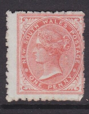 NSW EARLY 1878 1d Red QV SIDEFACE MINT/NG  (GL46 )