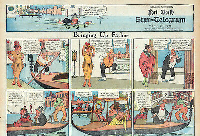 13 EARLY 1920's BRINGING UP FATHER + OTHERS FM BOUND VOLUMES