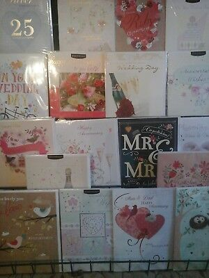 50 Big Wedding And Anniversary Cards, Wholesale Joblot Greeting Cards
